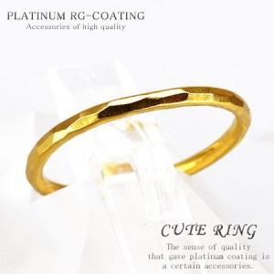 選べるサイズ 銀製シルバー925製 ピンキーリング シャイン リッチゴールドカラー 人気 メンズ ペアリング レディース 極細シンプルリング 指輪 air65|swan-hoseki