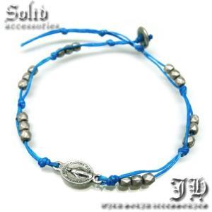 送料無料 アンクレット マリア カラーストリング 聖母 ブルー 水色 青 レディース 女性用 ペア ブレス ank45|swan-hoseki
