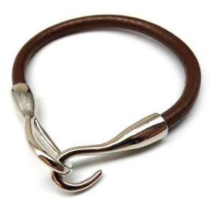 高級本革チョーカーブレス ダークブラウン 本皮ブレスが500円 レザー最速装着 濃茶 。b378 swan-hoseki