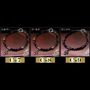 メンズ ブレスレット ブレス スピネルカットブレス セレブ 全29種類 チャーム クロス シルバー ゴールド ビーズb928-968|swan-hoseki|05