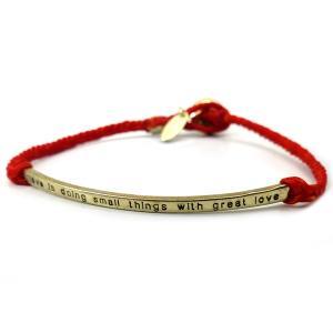 特別価格999円 メンズ 煌きブレスレット ブレス セレブ 刻印 紐 ゴールド レッド 赤b938|swan-hoseki