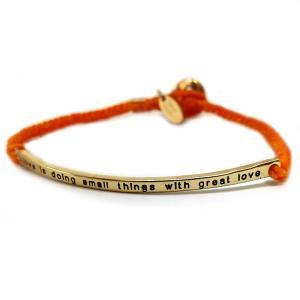特別価格999円 メンズ 煌きブレスレット ブレス セレブ 刻印 紐 ゴールド オレンジ 橙色b941|swan-hoseki