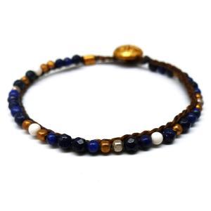 特別価格1880円 メンズ 煌きブレスレット ブレス セレブ カットガラス カラービーズ 青色 ブルーb949|swan-hoseki