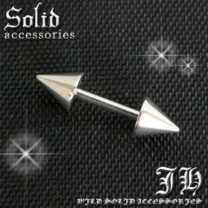 bp11 今だけ180円 1個売り 16Gボディピアス バーベルスパイク ステンレス ストレート 8mm|swan-hoseki