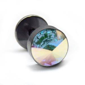bp23 新作で550円 1個売り 16Gステンレスピアス レインボー 8mm|swan-hoseki