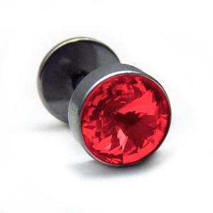 bp28 新作で550円 1個売り 16Gステンレスピアス レッド 8mm|swan-hoseki