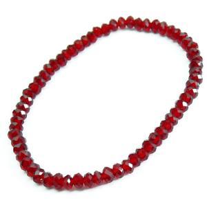 chb8 選べる3サイズ 超レアの赤 高級レッドスピネルCut仕様 高級チェコガラス ブレスレット swan-hoseki