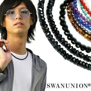 ブラックスピネル メンズ ネックレス メンズ シルバーchn9 バ|swan-hoseki
