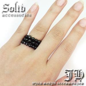 超豪華 本物保証  指輪 入荷 ブラックスピネルCut スピネル天然石オニキスリング パワーストーン 指輪 ペアにもchr10 L swan-hoseki 05