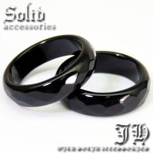 超目玉 100%本物保証 天然石オニキスリング498円 煌きGlassカット ブラック 指輪 ペア ピンキーリングchr9 19号 パワーストーン|swan-hoseki|02