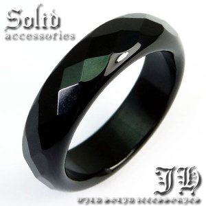 超目玉 100%本物保証 天然石オニキスリング498円 煌きGlassカット ブラック 指輪 ペア ピンキーリングchr9 6号 パワーストーン|swan-hoseki