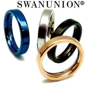 ステンレスリング メンズ リング 指輪 ステンレス メンズ レディース 刻印 人気 ペア ピンキーリング ブルー シルバー ブラック ピンクゴールド 銀 黒 金 青|swan-hoseki