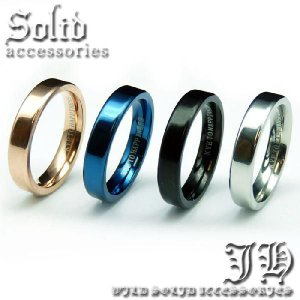 幸せの鍵 刻印 全4色 新素材ステンレスPVDリングが840円 指輪 ペア ピンキーリング 銀 黒 金 青 シルバー ブラック ピンクゴールド ブルー おしゃれ|swan-hoseki|02