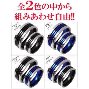 2個セット価格 ダブルライン ペアリング 刻印 高級ステンレス製 指輪 人気 シルバー ピンキーリング ペアchsr24-25|swan-hoseki|05