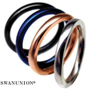 ペアリング シンプル 極細 刻印 高級 ステンレス製 指輪 人気 ペア プレゼント カップル シルバー ブルー ピンキーリング chsr34-37|swan-hoseki