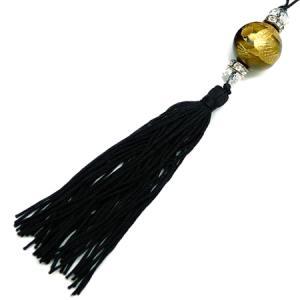 chst1 金 龍ストラップ タイガーアイ 18mm超大玉 悪羅悪羅 付房タイプ 茶|swan-hoseki