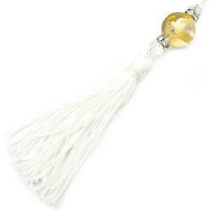 chst5 金 龍ストラップ 水晶 18mm超大玉 悪羅悪羅 付房タイプ クリア|swan-hoseki
