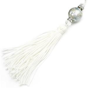 chst8 銀 龍ストラップ ホワイトターコイズ 18mm超大玉 悪羅悪羅 付房タイプ 白|swan-hoseki
