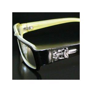 cs15 限定ダガーブラックフレーム 伊達メガネ眼鏡|swan-hoseki