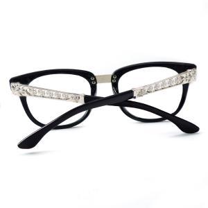 伊達メガネ メンズ レディース おしゃれ シンプル 大きい スクエア 人気 サングラス 黒ぶち眼鏡 伊達めがね 黒縁cs163|swan-hoseki|05