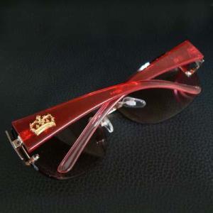 cs49 数量限定 クラウンサングラス レッドブラウン 赤 H5316-6|swan-hoseki