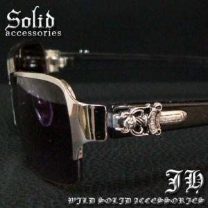 cs55 メタルフレーム ダガーサングラス シャープデザイン ブラック H5401-1|swan-hoseki