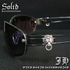cs57 ブラックフレーム ライオンヘッドサングラス 2715-3|swan-hoseki
