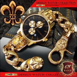 ブレスレット 腕時計 メンズ 時計 ブレスウォッチ ブレスレットウォッチ ブランド おしゃれ ローマ数字 ゴールド cr 黒 ブラック クロノグラフ デザイン ct109|swan-hoseki