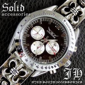送料無料 希少レア物 クロノグラフデザイン腕時計 自動巻きct47 ブレスレットウォッチ メンズ swan-hoseki