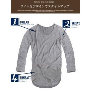 長袖 ロング丈 Tシャツ メンズ Uネック ロングTシャツ 無地 ロンTf370-f372 swan-hoseki 06