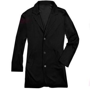 テーラードジャケット ロング丈 レディース ジャケット キレイめ ビジネス カジュアル 無地 アウター ブラック 黒 f580 swan-hoseki