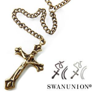 ネックレス メンズ ゴールド シンプル おしゃれ 男性用 ロング クロス 十字架 n755|swan-hoseki