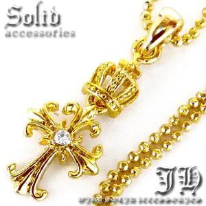 ネックレス メンズ ゴールド シンプル おしゃれ 男性用 ロング クロス 十字架 n841|swan-hoseki