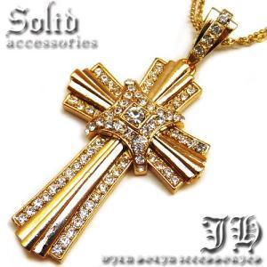 ネックレス メンズ ゴールド シンプル おしゃれ 男性用 ロング クロス 十字架 n890|swan-hoseki