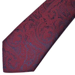 ネクタイ メンズ 幅 7cm ブルー 青 レッド 赤 ペイズリー ナロータイ ビジネス カジュアルne105 swan-hoseki