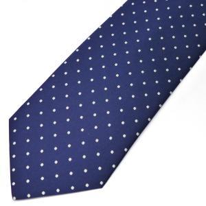 ネクタイ メンズ 幅 7cm グレー ブルー 青 ドット柄 ナロータイ ビジネス カジュアルne112|swan-hoseki