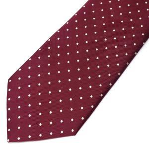 ネクタイ メンズ 幅 7cm グレー レッド 赤 ドット柄 ナロータイ ビジネス カジュアルne113|swan-hoseki