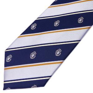 ネクタイ メンズ 幅 7cm ネイビー 紺 ホワイト 白 ベージュ クレスト 紋章 ナロータイ ビジネス カジュアルne121 swan-hoseki