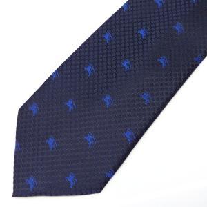 ネクタイ メンズ 幅 7cm ネイビー 紺 ブルー 青 馬 ナロータイ ビジネス カジュアル ne158|swan-hoseki