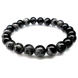 pwb45 1点もの 超目玉 本物ブラックルチルクォーツ おおよそ 8mm天然石ブレスレット パワーストーン ペアにも|swan-hoseki