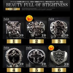 メンズ指輪 リング メンズ シルバー 全12種類 髑髏ドクロ スカル骸骨 百合フレア クロス十字架 マリア 聖母 メダイ 19号 21号 23号 r288-299|swan-hoseki|02