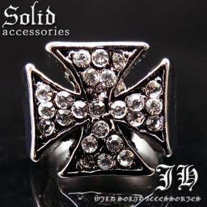 新作 ついにでた 重厚リング 黒十字 クロス 十字架 メンズ指輪sv最強リング 19号 21号 23号 r288 おしゃれ 男性用|swan-hoseki