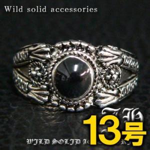 R31 13号 ペアにおススメ ブラックストーン高品質シルバーRG加工リング 指輪 swan-hoseki