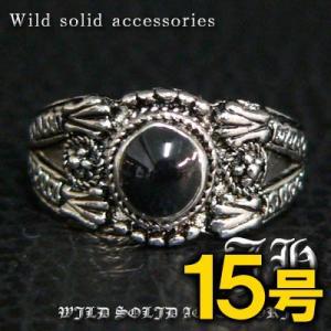 R31 15号 ペアにおススメ ブラックストーン高品質シルバーRG加工リング 指輪 swan-hoseki