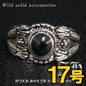 R31 17号 ペアにおススメ ブラックストーン高品質シルバーRG加工リング 指輪 swan-hoseki