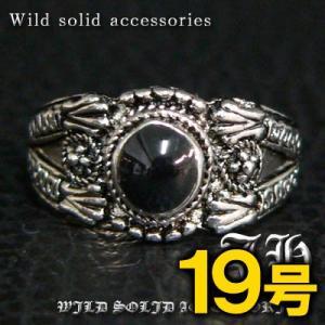 R31 19号 ペアにおススメ ブラックストーン高品質シルバーRG加工リング 指輪 swan-hoseki