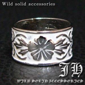 R52 21号 ペアにも ネイティブ系ハイビスカス 高品質シルバーRG加工リング 指輪ホワイト swan-hoseki