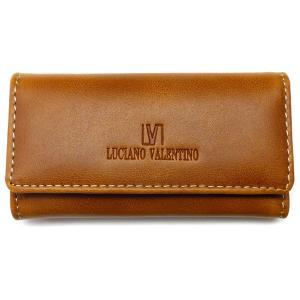 本革 キーケース ブランド バレンチノ VALENTINO メンズ レディース 人気 皮 薄茶色 ライトブラウン キャメル sai164|swan-hoseki