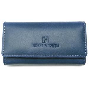 本革 キーケース ブランド バレンチノ VALENTINO メンズ レディース 人気 皮 青 ブルーsai165|swan-hoseki
