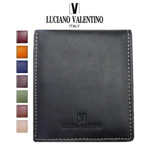 メンズ 財布 二つ折り 革 小銭入れあり ブランド ルチアーノ・バレンチノ 本革 レザー sai77-sai173|swan-hoseki